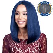 Bobbi Boss Human Hair Blend Lace Front Wig MBLF90 Swiss Lace Juba