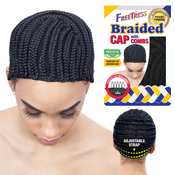 FreeTress Braided Cap For Crochet Braid And Weaves With Comb