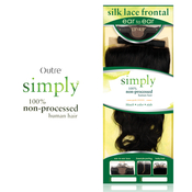 Outre Simply NonProcessed Human Hair Closure 13x45 Silk Lace Frontal Ear To Ear Body Wave 12