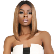 UpScale 100 Virgin Remi Human Hair Lace Wig Deep Part Lace Wig Straight 12 OT30