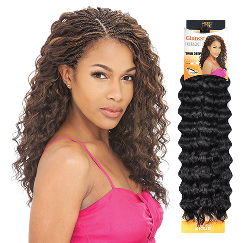 Crochet Hair Model Model : ModelModel Synthetic Hair Crochet Braids Glance Twin Deep - SamsBeauty
