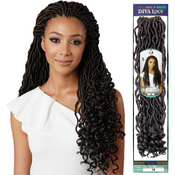 Bobbi Boss Synthetic Hair Crochet Braids African Roots Braid Collection Diva Locs 18 Goddess Locs