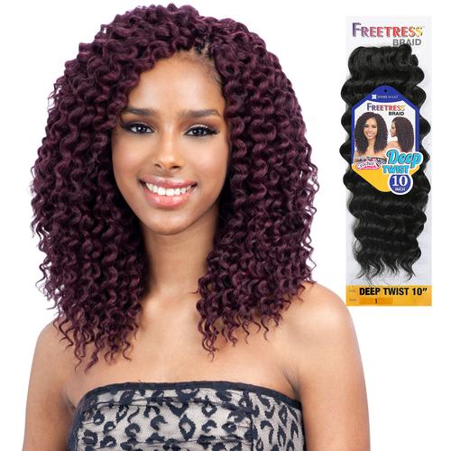 "FreeTress Synthetic Hair Crochet Braids Deep Twist 10"" - SamsBeauty"