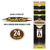 Sensationnel Unprocessed Virgin Remy Human Hair Clip on Weave BareAMP;Natural Bundle Clip Natural Straight