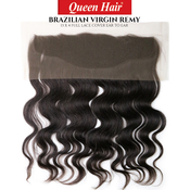 Queen Hair Unprocessed Brazilian Virgin Remy Human Hair Weave 13X4 Full Lace Cover Ear To Ear Body Closure
