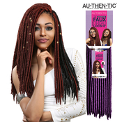 Authentic Synthetic Hair Crochet Braids 2X Faux Dread Locs 18 Faux Locs