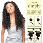 Outre Simply NonProcessed Brazilian Human Hair Weave Natural Deep