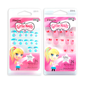 Fingrs Girlie Nails StickOn Nails Blue 24Pcs