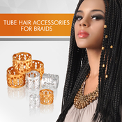 Braiding Metal Cuffs Hair Decoration Filigree Tube