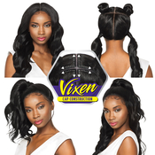 Outre Synthetic Hair Lace Front Wig 4Way Part Swiss X Vixen Loose Wave