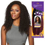Outre Human Hair Blend Weave Premium Purple Pack Brazilian Boutique Virgin Curly 18 18 18Free Closure