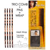 Hype Hair Trio Comb AMP; Pins AMP; Wrap