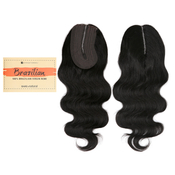 Sensationnel Unprocessed Brazilian Virgin Remy Human Hair Weave Bare AMP; Natural LShape Part Lace Closure Natural Body 12