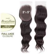 Outre Unprocessed Brazilian Human Hair Weave Simply HandTied Full Lace Closure