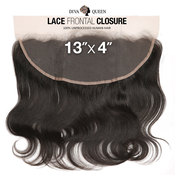 Diva Queen 100 Virgin Human Hair Unprocessed Brazilian Weave 13x4 Lace Frontal Closure Natural Body