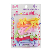 Joy Kid Collection Colorful Ribbon Hair Barrettes 24Pcs