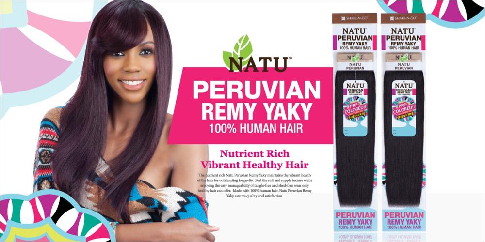Shake N Go Natu Peruvian Remy Human Hair Weave Yaky Samsbeauty
