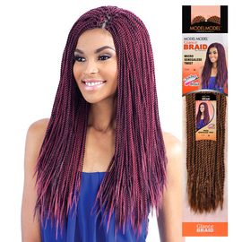 Crochet Braids Micro : ModelModel Synthetic Hair Crochet Braids Glance Micro Senegalese Twist ...