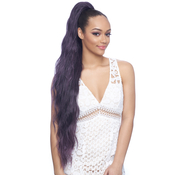 Harlem125 Synthetic Hair Drawstring Ponytail Feather Tip V Shape Samba156