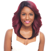Janet Collection Human Hair Blend Lace Front Wig Brazilian Scent Lace Hagell