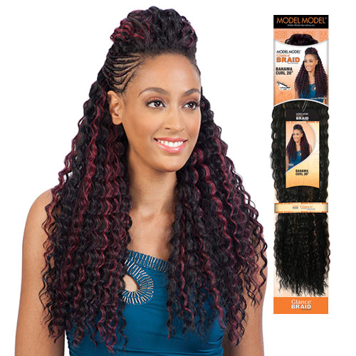 Crochet Box Braids Model Model : ModelModel Synthetic Hair Crochet Braids Glance Bahama Curl 20 ...
