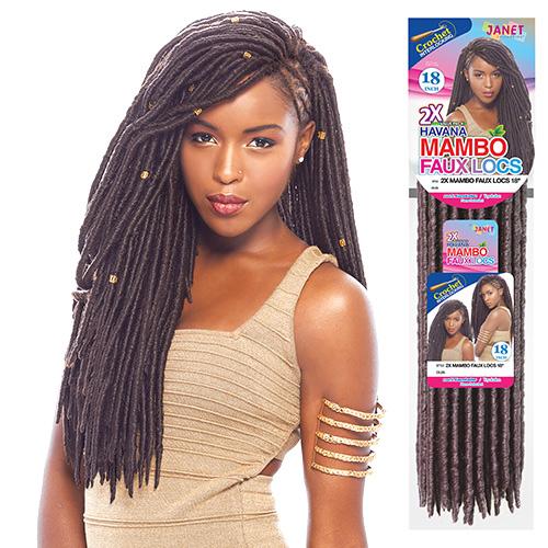 Collection Synthetic Hair Crochet Braids 2X Havana Mambo Faux Locs ...