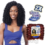 FreeTress Synthetic Hair Crochet Braids 2X Ringlet Wand Curl