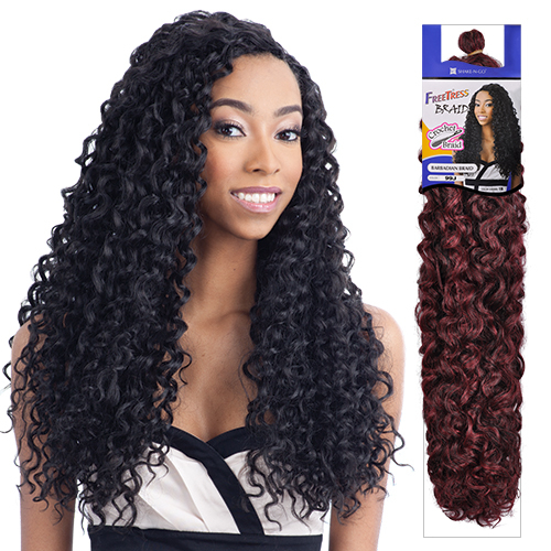 Crochet Braids Freetress : FreeTress Synthetic Hair Crochet Braids Barbadian Braid - SamsBeauty