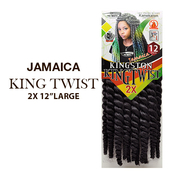 Majesty Collection Synthetic Kanekalon Braids Jamaica Kingston King Twist 2X 12 Large