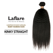 LaFlare Unprocessed Virgin Remy Human Hair Weave Natural Kinky Straight