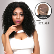 UpScale 100 Virgin Remi Human Hair Hand Made Full Lace Wig Jerry Curl 20