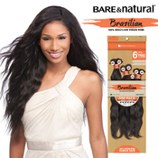 Sensationnel Unprocessed Brazilian Virgin Remy Human Hair Weave Bare AMP; Natural Natural Wavy 6Pcs  Free Closure
