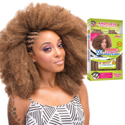 Janet Collection Synthetic Hair Crochet Braids 2X Mambo 4C Crinkly Afro Kinky 24