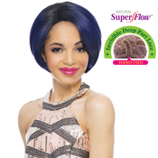 Janet Collection Synthetic Hair Lace Front Wig Natural Super Flow Invisible Deep Part Lace Ferri