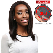 Queen Hair Unprocessed Brazilian Virgin Remy Human Hair Lace Front Wig 360 Wig Straight 18 L