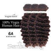 Vogue Hair 100 Virgin Human Hair Brazilian Bundle Hair Weave 6A Deep Wave 3 Lot  285g