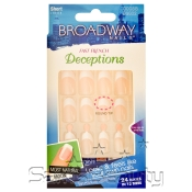 Broadway Fast French Deceptions Nail Kit Short Length Oblivious Oval