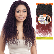 ModelModel Synthetic Hair Crochet Braids Glance 3X Wavy Feathered Twist 16