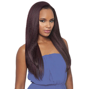 Outre Synthetic Hair Half Wig Quick Weave Batik Dominican Blow Out Straight