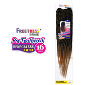 FreeTress Synthetic Hair Crochet Braids PreFeathered Senegalese Twist 16