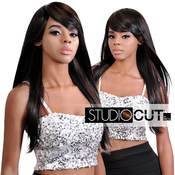 Studio Cut by Pros Synthetic Hair Wig 24 Zen Straight Cut