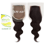 Outre Simply NonProcessed Brazilian Human Hair Weave Silk Lace Closure 12