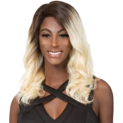 Wig Dress 100 Brazilian Human Hair Lace Front Wig 4Ever Ultra Color Ocean Wave T2613