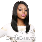 Queen Hair Unprocessed Brazilian Virgin Remy Human Hair Full Lace Front Wig L Part Straight 18