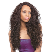 Outre Synthetic Lace Front Wig L Part Batik Peruvian