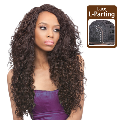 Outre Synthetic Lace Front Wig L Part Batik Peruvian Samsbeauty Hair Color Shown S4 30