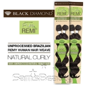 Black Diamond Unprocessed Brazilian Remy Human Hair Weave Pure Remi Spiral Curly