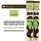 Black Diamond Unprocessed Brazilian Remy Human Hair Weave Pure Remi Natural Body Wave