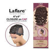 LaFlare Unprocessed Brazilian Virgin Remy Human Hair Weave 4X4 Lace Closure On Cap Deep 12