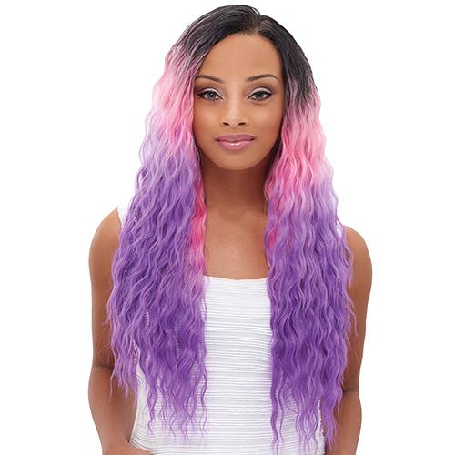 Janet collection brazilian human hair blend weave encore natural hair color shown pastel 1bpinkpurple pmusecretfo Image collections